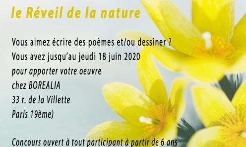 """Concours de dessin et de poésie """"le Réveil de la nature"""" (du 1er au 15 juin 2020)"""